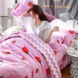 Schönes Onlinesystem-preiswerte rosafarbene Weihnachtsflanell-Bettwäsche