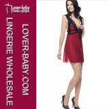 Frauenbabydoll-reizvolle Wäsche-gesetztes Kleid (L28012-3)