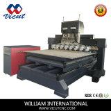 8 Los jefes de la Carpintería de la máquina de grabado CNC (VCT-TM2515FR-8H)