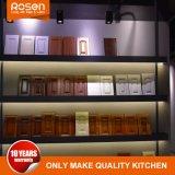 High-end Custom полы из тикового дерева шпона с белыми кухонным шкафом