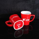 Custom кружка печати черного цвета красный керамические чашки для напитков