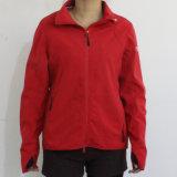 Rojo Brillante 4-Way tela tensada del impermeable a prueba de agua para la mujer adulta