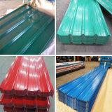 Galvanizado revestido de cor da placa de cobertura de ferro corrugado/ Folha de coberturas metálicas