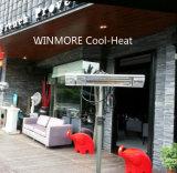 Calefator elétrico do calefator infravermelho comercial do pátio do calefator com o parasol para áreas ao ar livre
