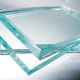 4-12mm bords plats en verre trempé clair