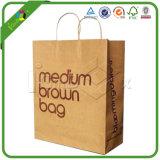 Custom крафт-бумаги или сумку с трос ручки для покупок