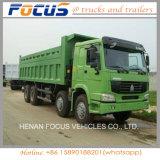 중국 8X4 340HP 371HP 420HP 무거운 팁 주는 사람 덤프 트럭