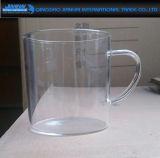 De het duidelijke Water van het Glas/Kop van de Thee met de Prijs van de Fabriek van het Handvat