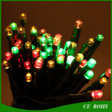 Projector pequeno solar colorido de Parrty do casamento da luz da corda do Natal do diodo emissor de luz da decoração do jardim com 100 câmaras de ar