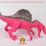 Giocattoli del Triceratops del rapace dello Stegosaurus impostati giocattolo di plastica realistico di Dino - per i capretti LED vicino - Trex & del dinosauro di Spinosaurus per i bambini 3+ - gambo che impara i giocattoli - media