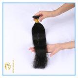 Das gezeichnete Farben-Doppelte der Qualitäts-#1b Colornatural spitze ich Extensions-Haar mit vollständigem Verkaufspreis Ex-010