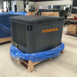10 kVA 8kw 침묵하는 유형 공기에 의하여 냉각되는 AC 단일 위상 디젤 엔진 발전기 비상 전원