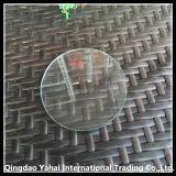 verre de flotteur clair rond de 4mm avec le bord Polished
