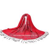 Lenço de cabeça de jacquard de moda para Lady Pashmina