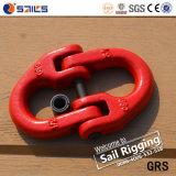 Biellette rouge de câble métallique de chaîne de jet