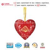 Коробка Heart-Shaped олова металла упаковывая (H001-V5)