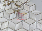 Formato Rhombic 3D olhar Mãe de Pearl Mosaico Shell (PCP122)