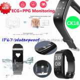 Il braccialetto astuto di Bluetooth con IP67 impermeabilizza ed il video Ck18 di frequenza cardiaca