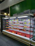 Dispositivo di raffreddamento della bevanda del portello scorrevole/frigorifero vetrina del supermercato