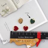 Braccialetto multicolore dei monili dei pendenti di fascino dello smalto del reticolo dell'oro di figura del cuore