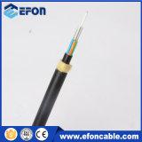 Cable óptico unimodal ADSS de fibra de la base G652D del hilado 12 de Kevlar