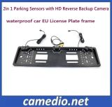 Plaque d'immatriculation de voiture de l'UE 3 en 1 vidéo le système de capteur de stationnement de voiture avec caméras HD de marche arrière