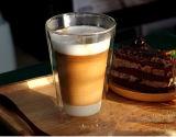 두 배 벽 유리제 커피잔 차잔 승진 선물