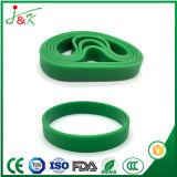 Pulseira de Silicone coloridas lisas, bracelete de borracha Bangle para desporto e das partes
