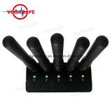 Las antenas de 5 separadores de bloqueo de señal móvil 2G+3G+4G+GPSL1, 5 bandas improvisación Jammer portátil portátil para teléfonos Wifi Lojack
