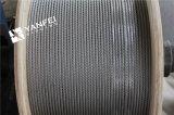 Fune metallica dell'acciaio inossidabile di 1*19 AISI316/304