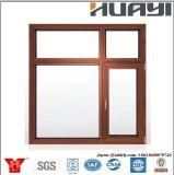 Окна из алюминия в американском стиле черного цвета панели Awing порошковое покрытие