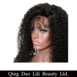 Les perruques bouclées de cheveux humains d'avant de lacet de densité de 250% pour des femmes de couleur vous pouvez cheveu brésilien de Remy avec les noeuds blanchis par cheveu de bébé