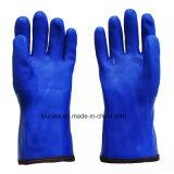 Водонепроницаемая ПВХ рабочие перчатки теплой