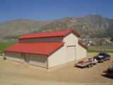 Edificio prefabricado del almacén de la estructura de acero de la azotea de la curva para el almacenaje (KXD-56)