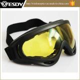 Gele Glazen van de Motorfiets van de Beschermende brillen van de Bescherming van het Stof van de Wind van X400 van Airsoft de Tactische
