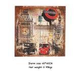 Металлическая пластинка домашней печати декора деревянная на деревянных искусствоах стены