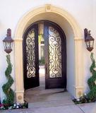Quadratische oberste kundenspezifische Securrity Comtemporary bearbeitetes Eisen-doppelte Tür