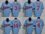 Ha personalizzato tutto il nome qualunque no. Tutti i capretti Minnesota delle donne degli uomini di marchio della squadra gemella il pullover di baseball di Mauer Hrbek Molitor Sano
