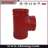 FM UL Roll Iron Ductile Grooved epossidico /verniciato/galvanizzato a T/tubo uguale Raccordi per la sicurezza antincendio