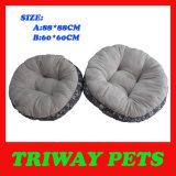 Het zachte Comfortabele Bed van de Hond van het Flanel (WY161076-6A/B)