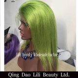 Das perucas retas coloridas do cabelo humano da parte dianteira do laço de Lilibeauty perucas peruanas de Remy para mulheres pretas nenhum emaranhado nenhum derramamento