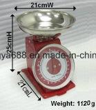 Scala meccanica della manopola della scala della cucina della primavera rossa di marca 5kg di Nops