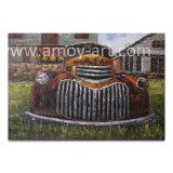 [أمريكن] مزرعة فنّ كبيرة قديم سيارة [أيل بينتينغ] جدار فنية صورة