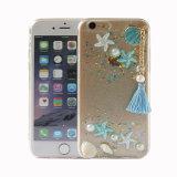 Geval-Blauw van de Telefoon van het Ornament van de Lijm van de daling het Hybride Mobiele