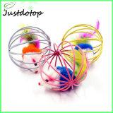 Giocattolo dell'animale domestico del giocattolo del gatto della sfera della gabbia del coniglio del mouse del giocattolo del gatto