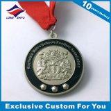 亜鉛合金3Dのフットボールメダルは鋳造物の金の銀の銅メダル、あなた自身のロゴのメダルを停止する