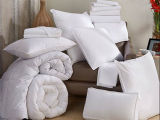 Algodão 200tc Plain White Hotel Duvet Cover Set / Hotel Bedding Set