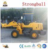 Máquina de carga Fabricante Strongbull 1,5T carregadora de rodas dianteira