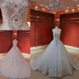 Vestido de casamento nupcial de perolização de cristal Strapless Z11122 de Ballgown do diamante
