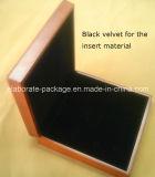 مجوهرات خشبيّة صندوق محدّدة مع جلد نافذة